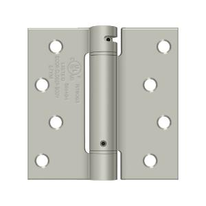 "4"" x 4"" Spring Hinge, UL Listed - Brushed Nickel"