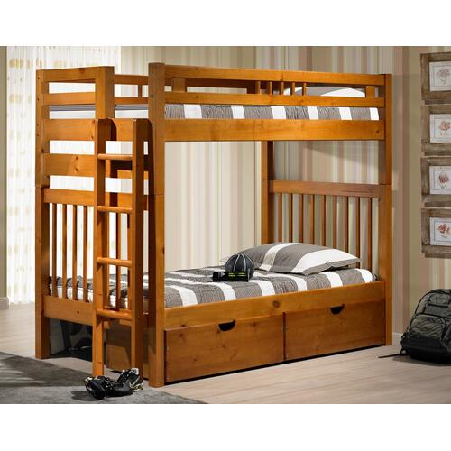 Innovations Furniture - Sacramento Bunk Bed With Short Ladder and Ubc