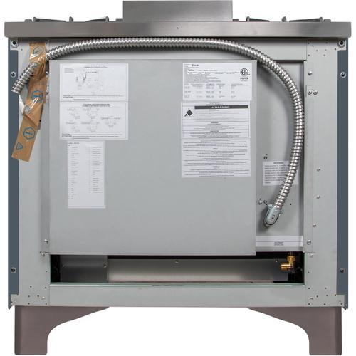 36 Inch Blue Grey Dual Fuel Natural Gas Freestanding Range