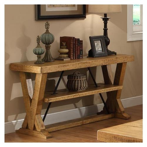 Riverside - Summerhill Console Table Canby Rustic Pine finish