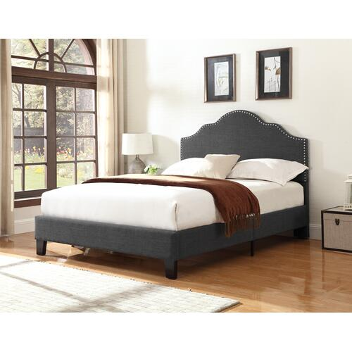 Madison King Upholstered Bed, Charcoal Gray B131-12hbfbr-13