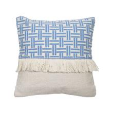 18x18 Hand Woven Lattice Pillow