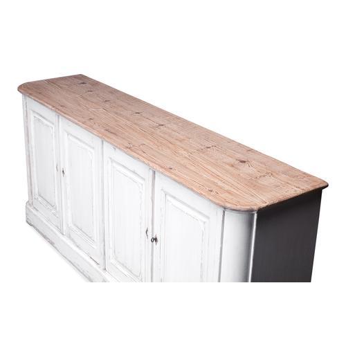 Antique Whitewash Sideboard, 4 Door
