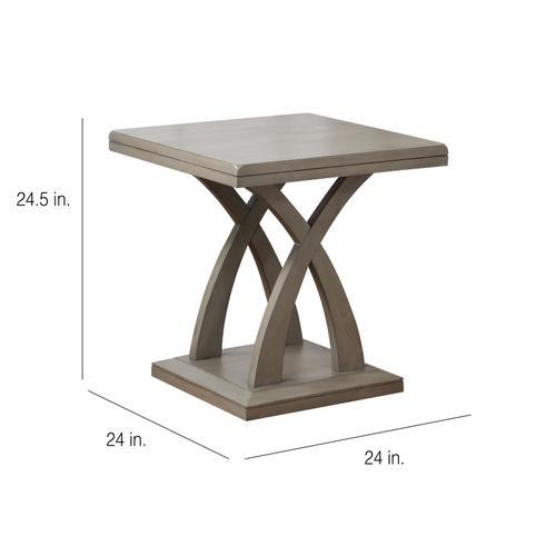 Jocelyn End Table, Grey