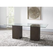 See Details - Modesto Rectangular Glass Table