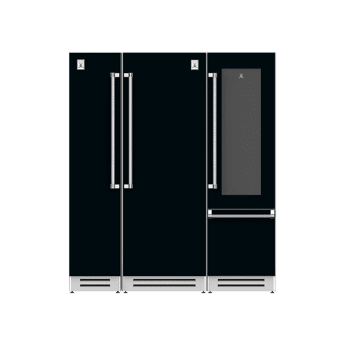 "Hestan - 72"" Column Freezer (L), Refrigerator and Wine Refrigerator ® Ensemble Refrigeration Suite - Stealth"