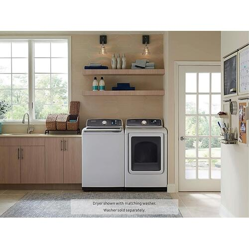 Samsung - 7.4 cu. ft. Electric Dryer in White