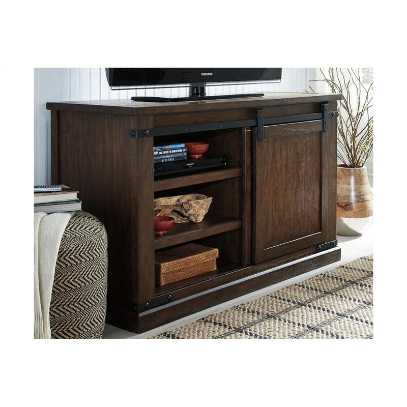 View Product - Budmore Rustic Brown Medium TV Stand