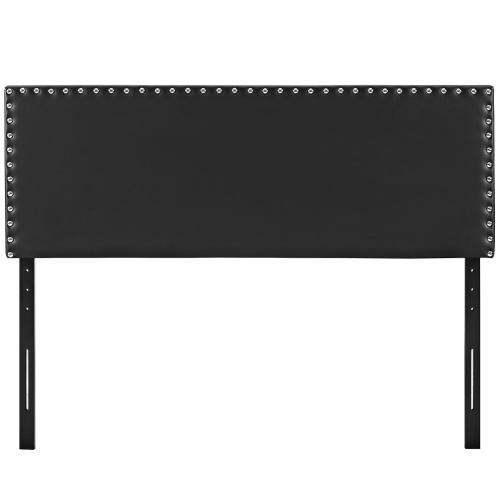 Phoebe King Upholstered Vinyl Headboard in Black