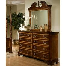 Eight Drawer Dresser and Broken Pediment Mirror