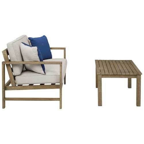Fynnegan Outdoor Loveseat With Table (set of 2)