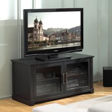See Details - WAVS321 No Tools Assembly Deep Black Finish A/V Cabinet fits most TVs up to 52 inches from Bell'O International Corp.
