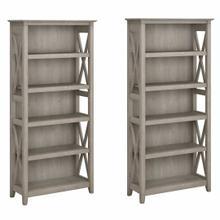 See Details - 5 Shelf Bookcase Set, Washed Gray