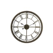 See Details - 7105184 - Clock 67x6,5 cm LEWES gold