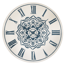Blue & White Enamel Medallion Wall Clock