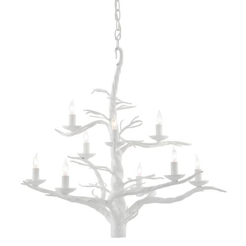 Treetop White Large Chandelier
