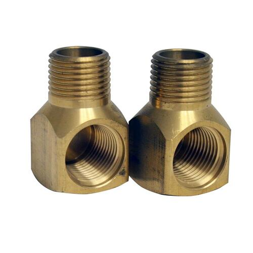 Brass Elbow for Whitehaus Wall Mount Utility Faucet Installation - Brass