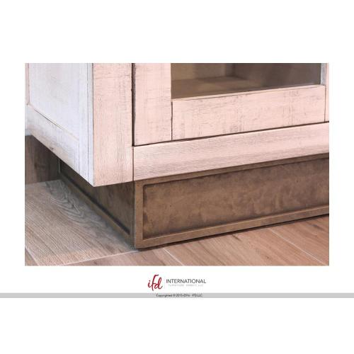 Artisan Home Furniture - 4 Drawers, 1 door Console - White Finish