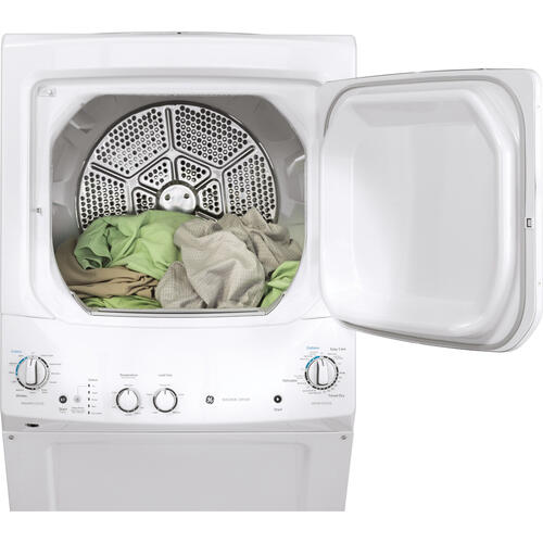 Electric Unitized Spacemaker 4.4Cu. Ft. (IEC) Washer / 5.9 Cu. Ft. Dryer White GE - GUD27ESMMWW
