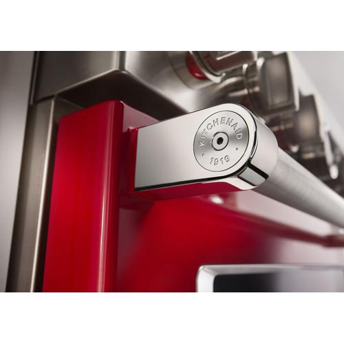 KitchenAid® 48'' Smart Commercial-Style Dual Fuel Range with Griddle - Passion Red