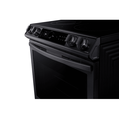 6.3 cu.ft. Electric Range with with True Convection and Air Fry in Black Stainless Steel