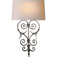 Visual Comfort CHD1388AI-NP E. F. Chapman Emilia 1 Light 14 inch Aged Iron Decorative Wall Light
