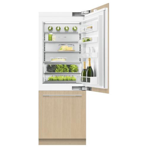 "Integrated Refrigerator Freezer, 30"", Ice & Water"