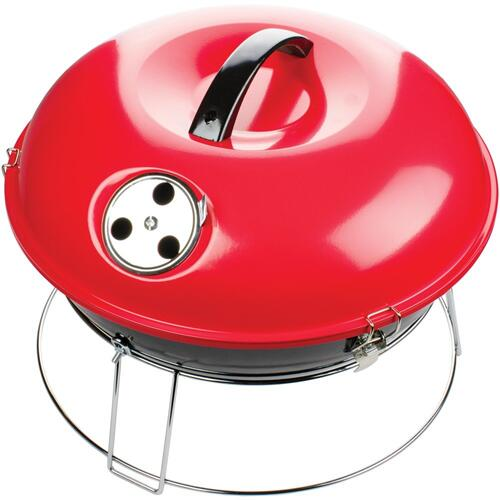 14-Inch Portable Charcoal Grill (Red)