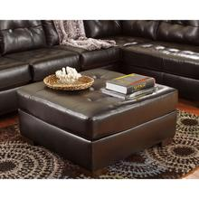 Signature Design by Ashley Alliston Oversized Ottoman in Chocolate Faux Leather [FSD-2399OTT-CHO-GG]