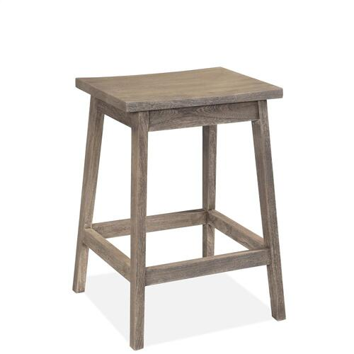 Waverly - Backless Counter Stool - Sandblasted Gray Finish