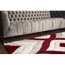 "Sorrento 721 Shag Area Rug by Rug Factory Plus - 5'4"" x 7'3"" / Red"