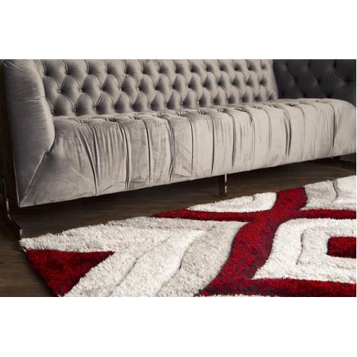 """Sorrento 721 Shag Area Rug by Rug Factory Plus - 5'4"""" x 7'3"""" / Red"""