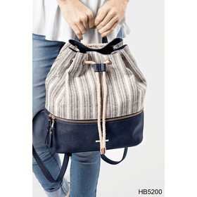 Nautical Striped Backpack (3 pc. ppk.)