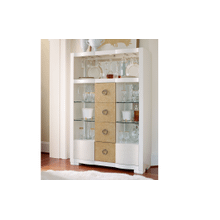 Tower Suite - Pearl Finish Bar Cabinet