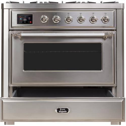 """36"""" Inch Stainless Steel Natural Gas Freestanding Range"""