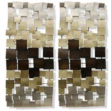Gold Ombre Metal Art Panels  46in  Set Of 2 Metal Art