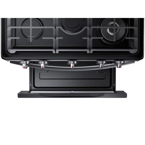 Gallery - 5.8 cu. ft. Freestanding Gas Range with Air Fry and Convection in Black Stainless Steel