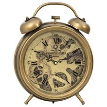 See Details - Brass Gears Table Top Clock