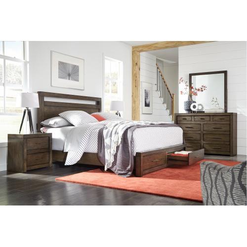 Aspen Furniture - 2 Drawer Nightstand w/ power