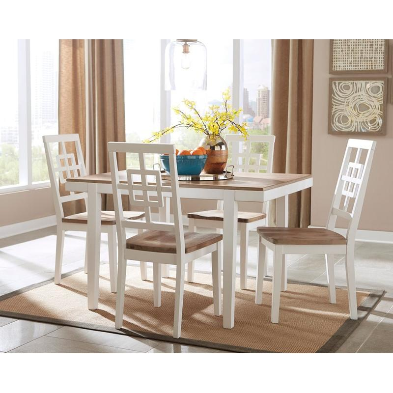 View Product - Brovada - White 5 Piece Dining Room Set