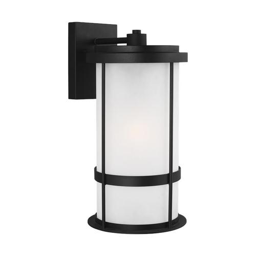 Wilburn Large One Light Outdoor Wall Lantern Black Bulbs Inc