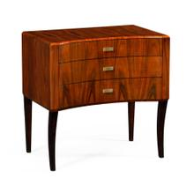 Art Deco curved chest of drawers with brass handles (High lustre)