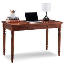 See Details - Farmhouse Oak Turned leg Laptop Desk with Center Drawer #82410
