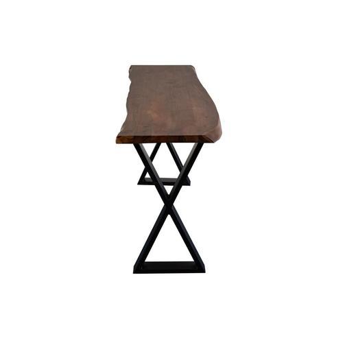 Manzanita Walnut Acacia Console Table with Different Bases, VCA-CS58W