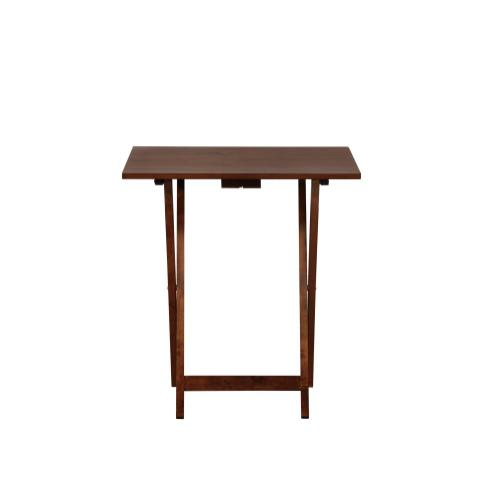 5-piece Set Folding Tray Table, Hazelnut