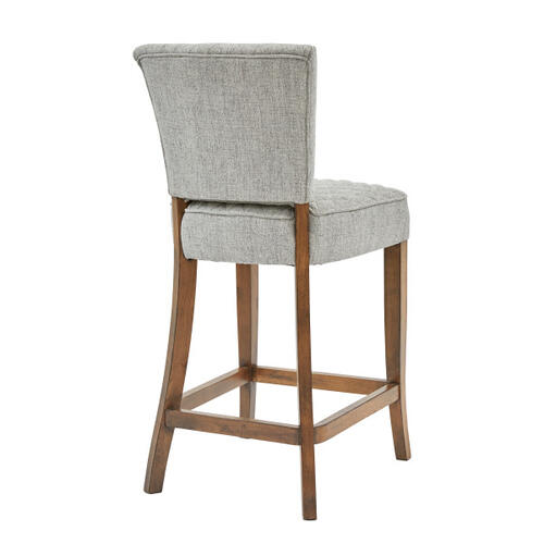 Quilted Counter Stool - Linen