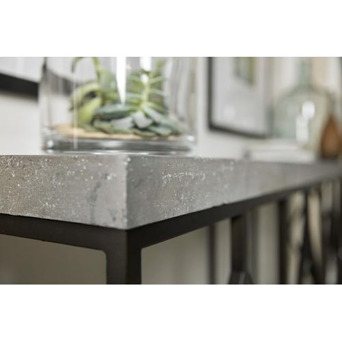 Ciao Bella Metal and Faux Concrete Console Table