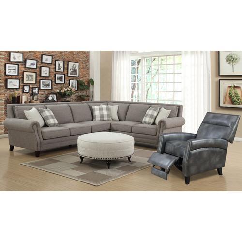 Willow Creek Rsf Corner Sofa, Pebble Brown U4120-12-13a