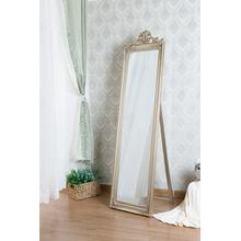 7056 CHAMPAGNE Full Length Standing Crown Mirror