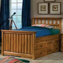 See Details - Twin Captains Bed with storage pedestal